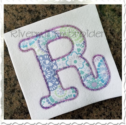 Zig Zag Typewriter Applique Machine Embroidery Alphabet