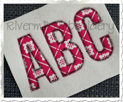 Walter Zig Zag Applique Machine Embroidery Alphabet