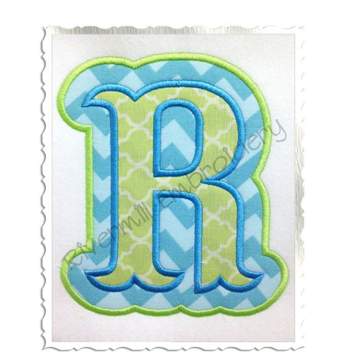 Carnival Double Applique Machine Embroidery Alphabet Font