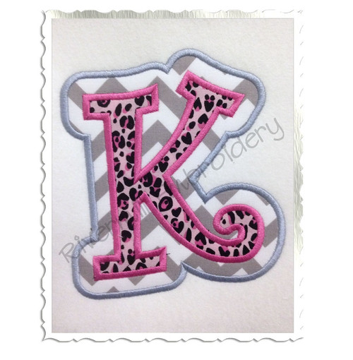Curlz Double Applique Machine Embroidery Alphabet Font
