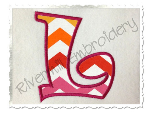 Ravie Applique Machine Embroidery Alphabet Font