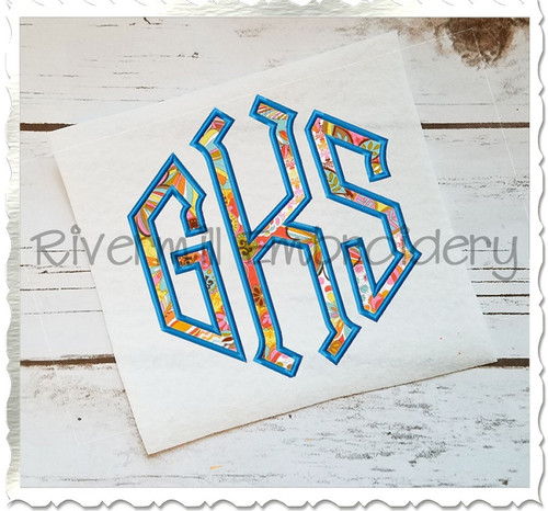 Point Monogram Applique Machine Embroidery Alphabet Font
