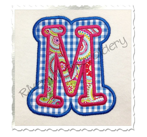 Boyz R Gross Double Applique Machine Embroidery Alphabet Font