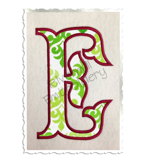 Fish Tail Applique Machine Embroidery Alphabet Font