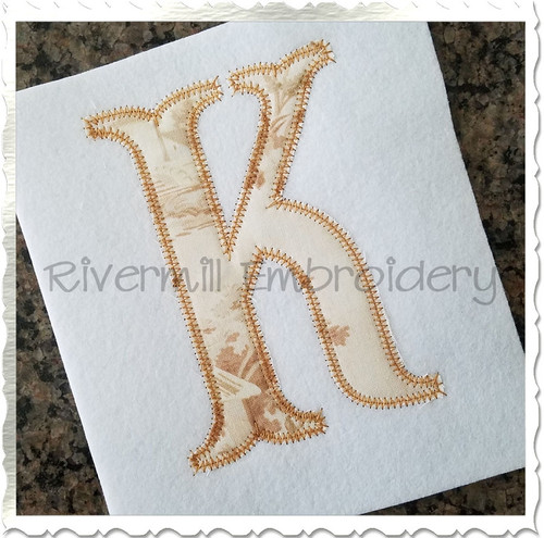 Zig Zag Fish Tail Applique Machine Embroidery Alphabet