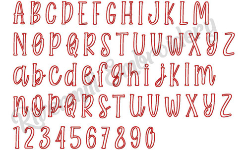Farmhouse Applique Machine Embroidery Alphabet