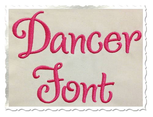 Dancer Machine Embroidery Font Alphabet