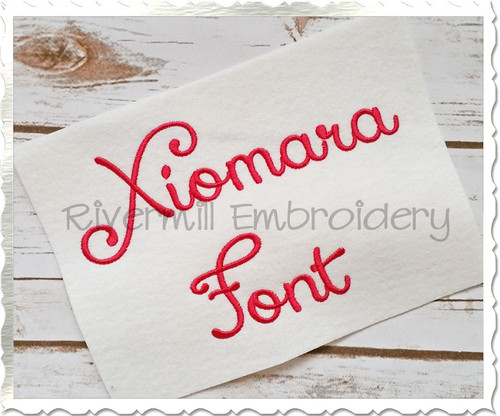Xiomara Machine Embroidery Font