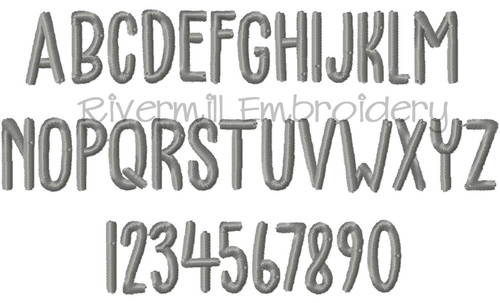 Small Ethan Font Machine Embroidery Font Alphabet