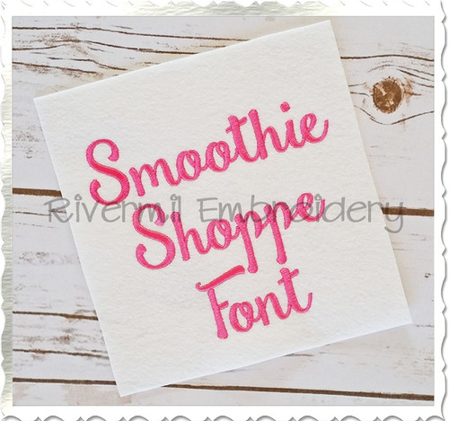 Smoothie Shoppe Machine Embroidery Font Alphabet
