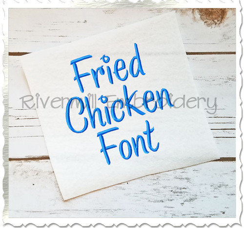 Fried Chicken Machine Embroidery Font Alphabet