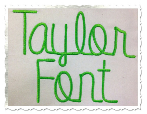 Taylor Machine Embroidery Font Alphabet