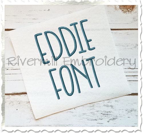 Eddie Machine Embroidery Font Alphabet