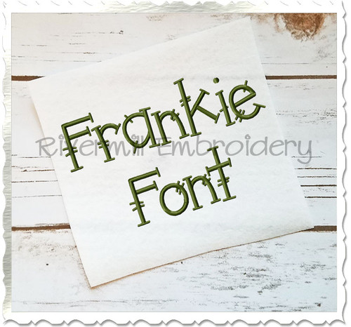 Frankie Machine Embroidery Font Alphabet