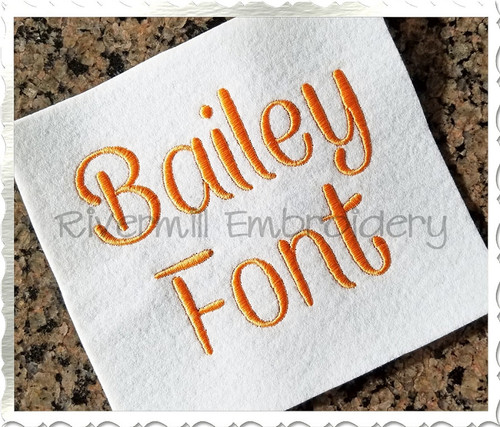 Bailey Font Machine Embroidery Font Alphabet