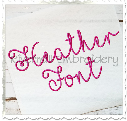 Heather Machine Embroidery Font Alphabet