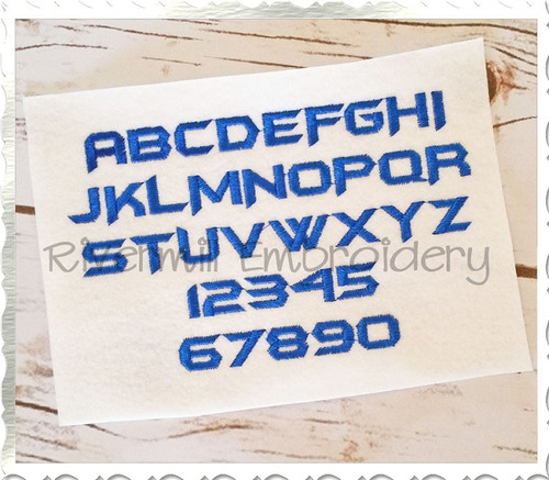 Half Inch Size ONLY Robot Machine Embroidery Font