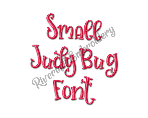 Small Judy Bug Font Machine Embroidery Alphabet