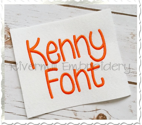 Kenny Machine Embroidery Font