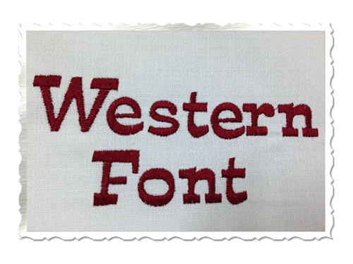 Western Machine Embroidery Font Alphabet