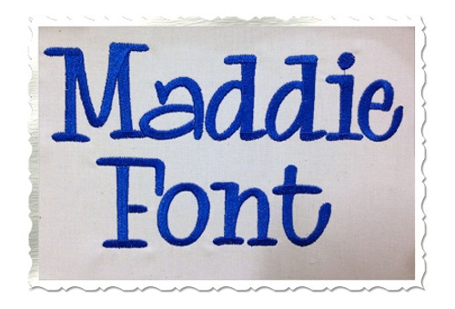 Maddie Machine Embroidery Font Alphabet