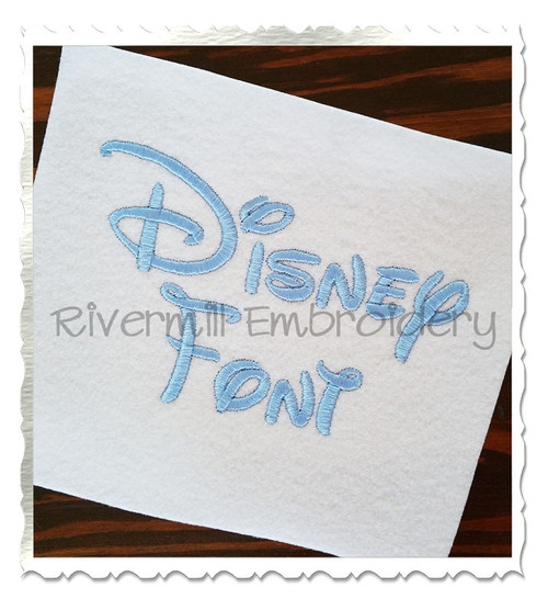 "1 1/2"" Inch Size ONLY Disney Machine Embroidery Font"