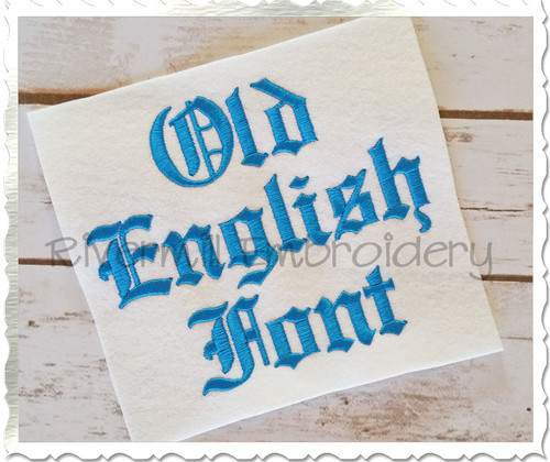 "1 1/2"" Inch Size ONLY Old English Machine Embroidery Font"