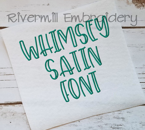 Whimsey Satin Stitch Machine Embroidery Alphabet
