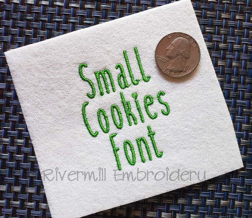 Small Cookies Machine Embroidery Font