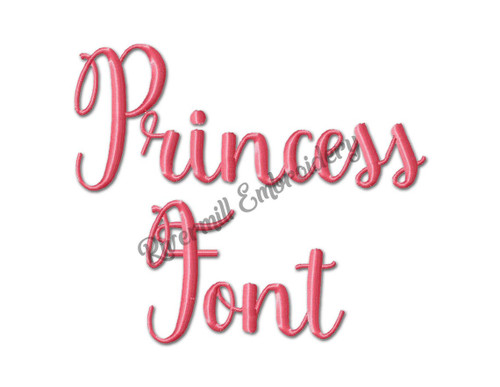 Princess Font Machine Embroidery Alphabet