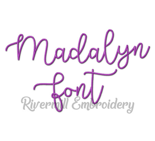 Madalyn Font Machine Embroidery Alphabet