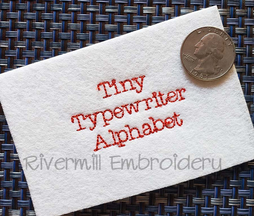 Tiny Typewriter Vintage Bean Stitch Machine Embroidery Alphabet