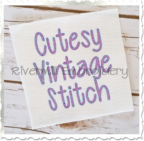 "1 1/2"" Inch Size ONLY Vintage Style Cutesy Machine Embroidery Font"