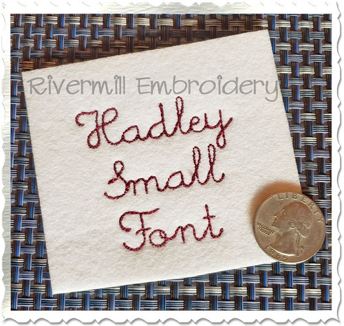 Small Hadley Vintage Bean Stitch Machine Embroidery Alphabet