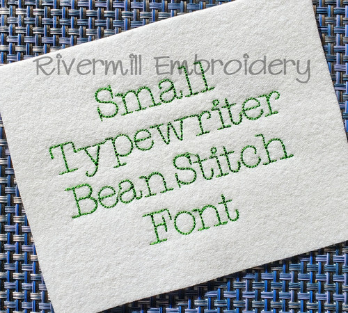 Small Typewriter Vintage Bean Stitch Machine Embroidery Alphabet