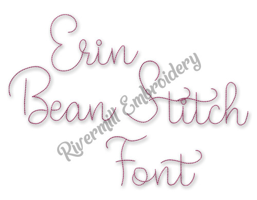 Erin Vintage Bean Stitch Machine Embroidery Alphabet