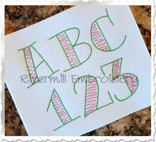 Doodle Sketch Machine Embroidery Alphabet