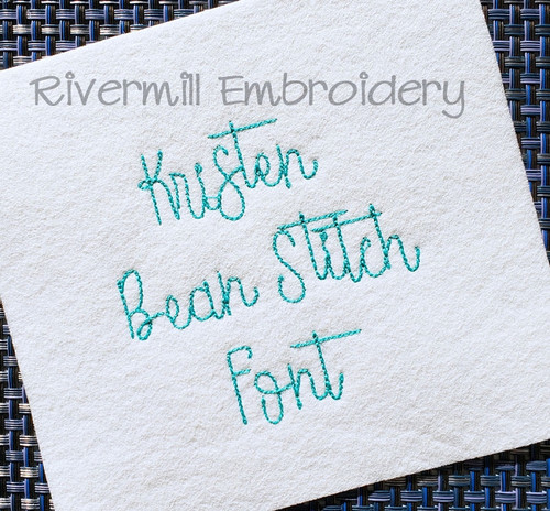 Small Kristen Vintage Bean Stitch Machine Embroidery Alphabet