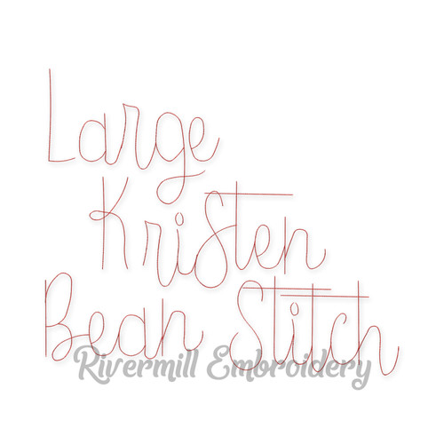 Large Kristen Vintage Bean Stitch Machine Embroidery Alphabet