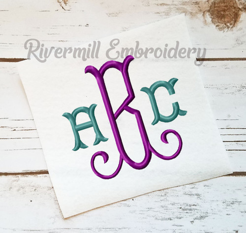 Large Tuscan Monogram Machine Embroidery Font Alphabet