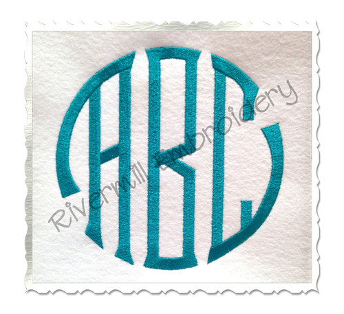 Large Seal 3 Letter Monogram Machine Embroidery Font