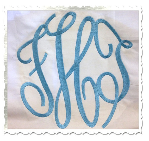 X-Large Classic 3 Letter Monogram Machine Embroidery Font