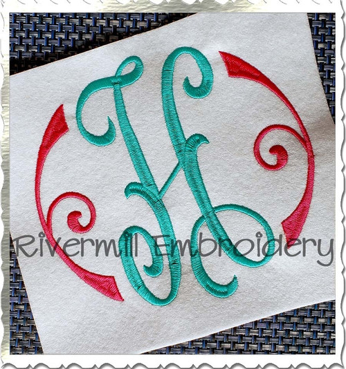 Large Arabesque Monogram Machine Embroidery Font Alphabet