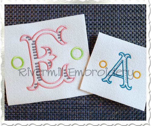 Milton Monogram Machine Embroidery Font Alphabet