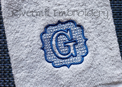 "3"" Size Embossed Monogram Machine Embroidery Alphabet"