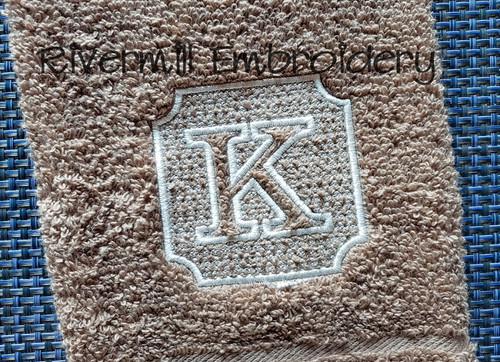 "3"" Size Embossed Monogram Machine Embroidery Alphabet (#2)"