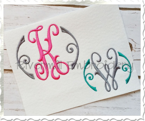 Arabesque Monogram Machine Embroidery Font Alphabet