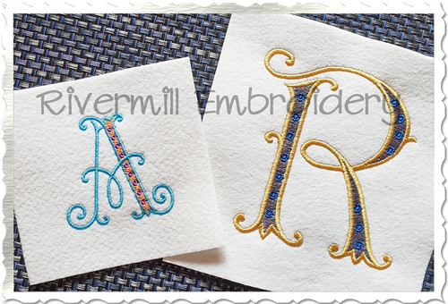 Webster Monogram Machine Embroidery Font Alphabet