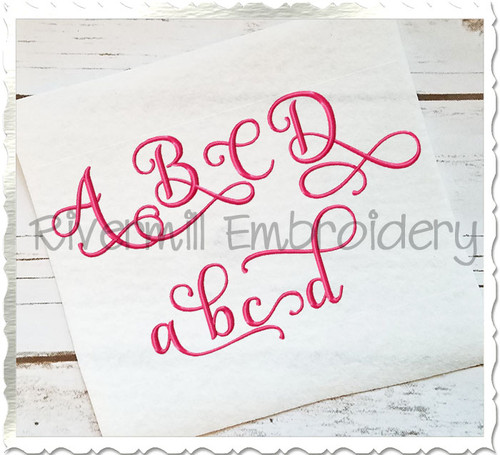 "1 1/2"" Size ONLY - Samantha Script Alternate Letters (Set 1) Machine Embroidery Font Alphabet"