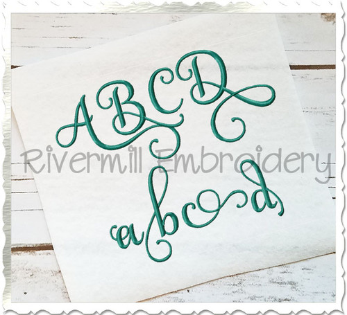 "1 1/2"" Size ONLY - Samantha Script Alternate Letters (Set 3) Machine Embroidery Font Alphabet"